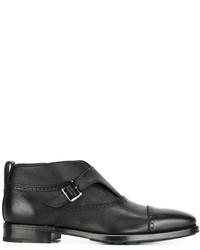 Salvatore Ferragamo Monk Strap Ankle Boots