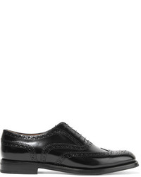 Church's The Burwood Glossed Leather Brogues Black
