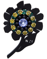No.21 No21 Flower Embellished Brooch