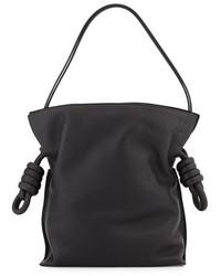 Loewe Flaco Small Knot Bucket Bag Black