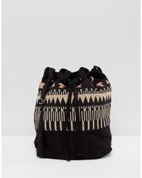 Reclaimed Vintage Inspired Patterned Bucket Bag