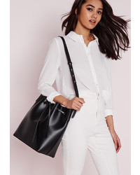 Missguided Bucket Bag Black