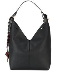 Anya Hindmarch Small Black Bucket Shoulder Bag