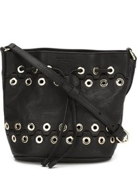 Sonia Rykiel Eyelet Bucket Shoulder Bag