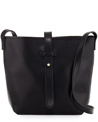 Neiman Marcus Structured Crossbody Bucket Bag