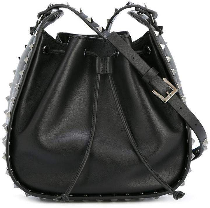 Valentino Sudded Bucket Shoulder Bag