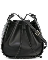 Valentino Sudded Bucket Shoulder Bag