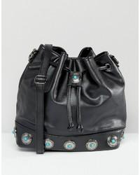 Glamorous Western Bucket Bag In Black