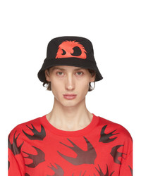 McQ Alexander McQueen Black And Red Chester Bucket Hat