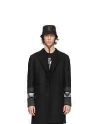 Neil Barrett Black Bolt Badge Bucket Hat