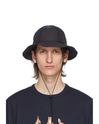 MAISON KITSUNÉ Black Bucket Hat