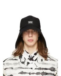 Burberry Black Cotton Bonnet Hat