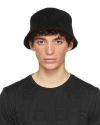 Fendi Black Cotton Bucket Hat