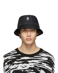 Marcelo Burlon County of Milan Black Cross Bucket Hat