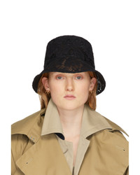 Valentino Black Garavani Lace Bucket Hat