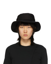 Ys Black Gathered Hat