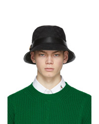Gucci Black Gg Supreme Bucket Hat