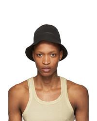 Rick Owens DRKSHDW Black Gilligan Bucket Hat