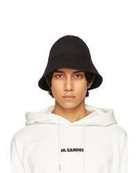 Jil Sander Black Herringbone Bucket Hat