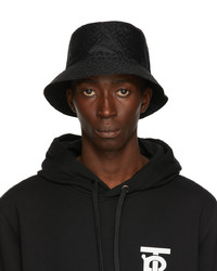 Burberry Black Jacquard Monogram Bucket Hat