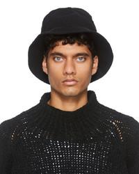 Jan Jan Van Essche Black Linen Cloth Bucket Hat
