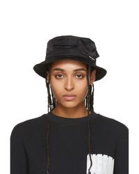 Heron Preston Black Logo Bucket Hat
