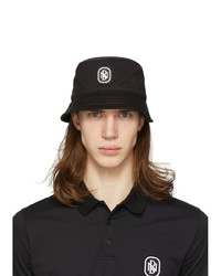Neil Barrett Black Logo Bucket Hat