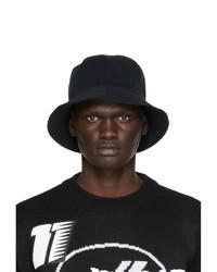 We11done Black Logo Bucket Hat