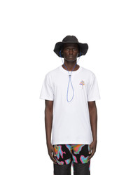 Marcelo Burlon County of Milan Black Logo Waterproof Bucket Hat