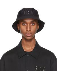McQ Black Nylon Bucket Hat