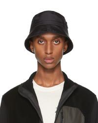 Z Zegna Black Nylon Bucket Hat