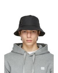 Acne Studios Black Nylon Buko Bucket Hat