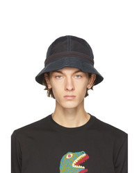 Ps By Paul Smith Black Nylon Canvas Bucket Hat