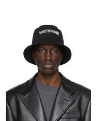 We11done Black Pearl Logo Bucket Hat