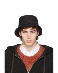 Neil Barrett Black Pierced Bucket Hat