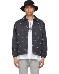 MAISON KITSUNÉ Black Puma Edition Twill Bucket Hat