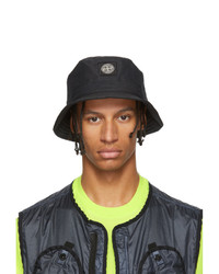 Stone Island Black Reflective Weave Bucket Hat
