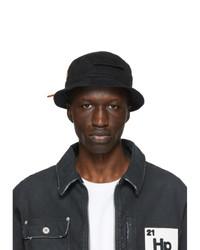 Heron Preston Black Twill Bucket Hat