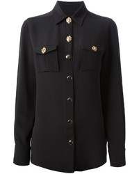Fausto Puglisi Long Sleeve Silk Shirt