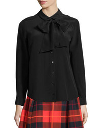 Kate Spade New York Tie Neck Button Front Blouse