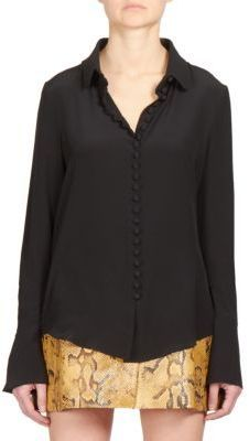 88d74e72dca98 ... Down Blouses Chloé Silk Button Front Blouse ...