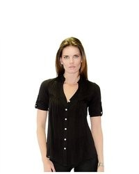 Soho Girl Lana Button Top Black