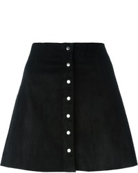 Alexander Wang T By A Line Buttoned Skirt
