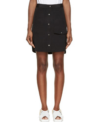 Alexander Wang Black Multi Pocket Silk Skirt