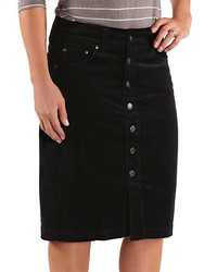 Jag Button Front Corduroy Skirt