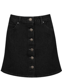 Miss Selfridge Button Front Denim Skirt