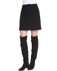 Tom Ford Button Front Mini Skirt Black