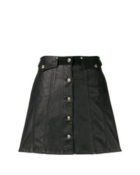 Versace Jeans Button Front Mini Skirt