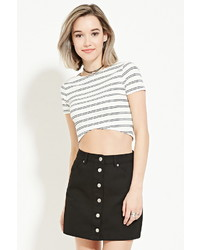 Forever 21 Buttoned Denim Skirt