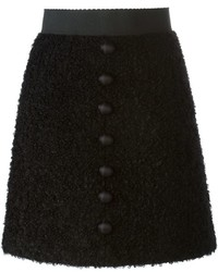 Dolce & Gabbana Button Detail A Line Skirt